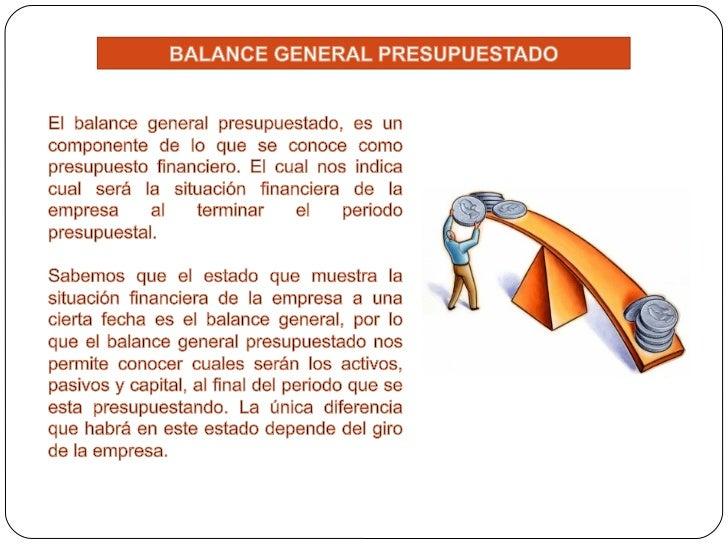 Presupuesto 2 Parte Balance General y Punto de Equilibrio + Ejercicio