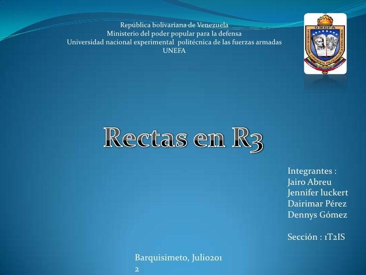 República bolivariana de Venezuela            Ministerio del poder popular para la defensaUniversidad nacional experimenta...