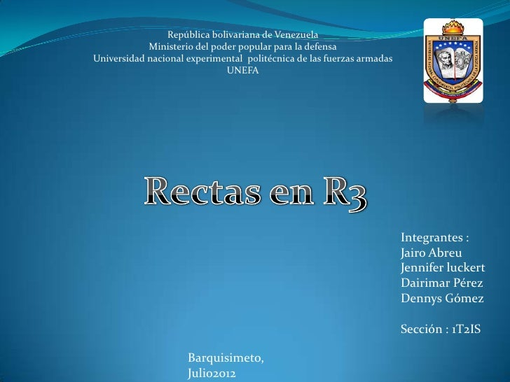 recta en r3