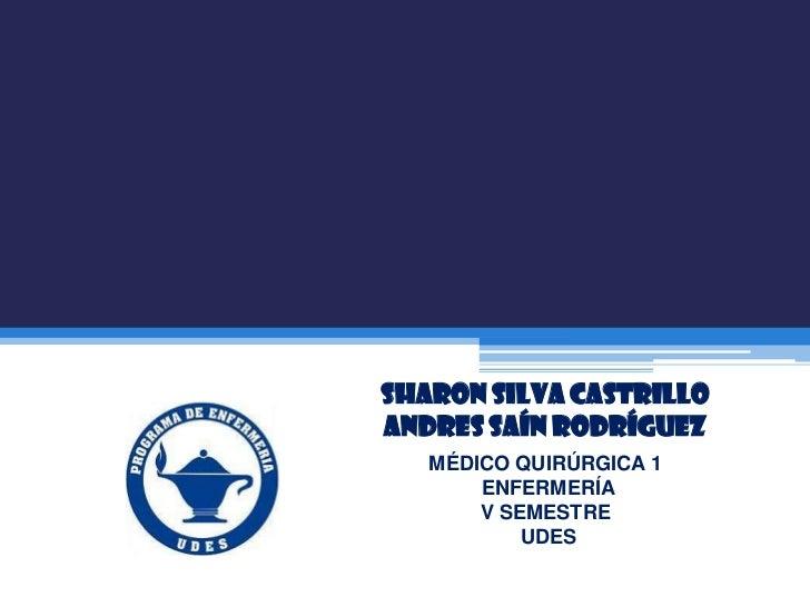 SHARON SILVA CASTRILLOANDRES SAÍN RODRÍGUEZ   MÉDICO QUIRÚRGICA 1       ENFERMERÍA       V SEMESTRE           UDES