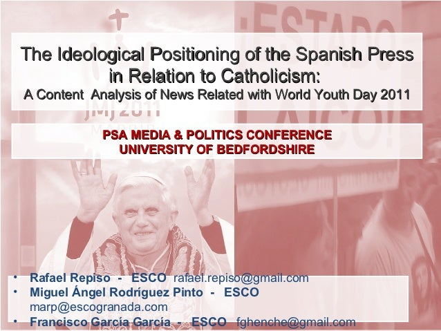 The Ideological Positioning of the Spanish Press in Relation to Catholicism