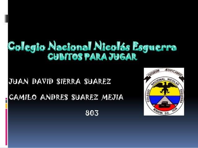 JUAN DAVID SIERRA SUAREZCAMILO ANDRES SUAREZ MEJIA803