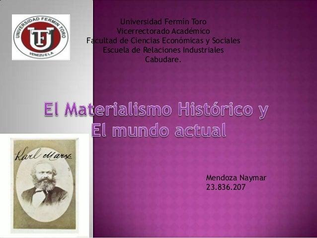 Universidad Fermín Toro Vicerrectorado Académico Facultad de Ciencias Económicas y Sociales Escuela de Relaciones Industri...