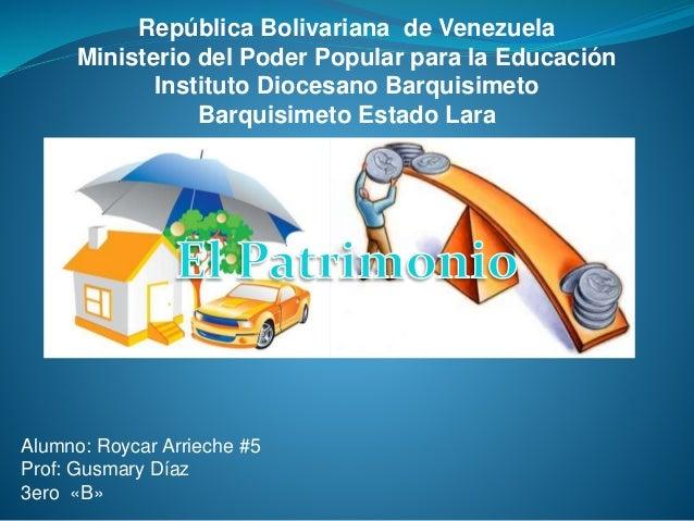República Bolivariana de Venezuela Ministerio del Poder Popular para la Educación Instituto Diocesano Barquisimeto Barquis...