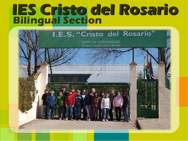 IES Cristo del RosarioBilingual Section