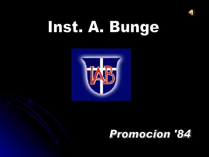 Inst. A. Bunge Promocion '84