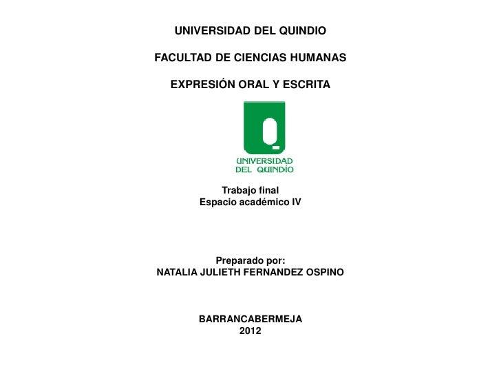 Presentación2 expresion oral y escrita
