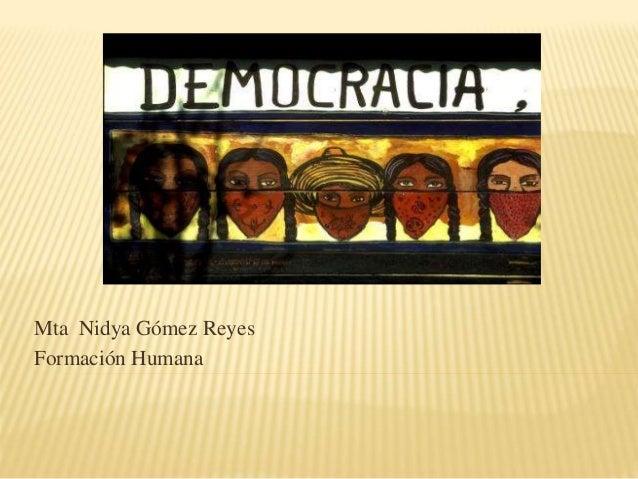 Mta Nidya Gómez Reyes Formación Humana