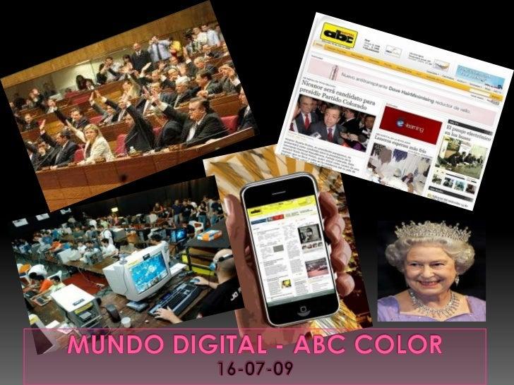 Mundo Digital - ABC COLOR<br />16-07-09<br />