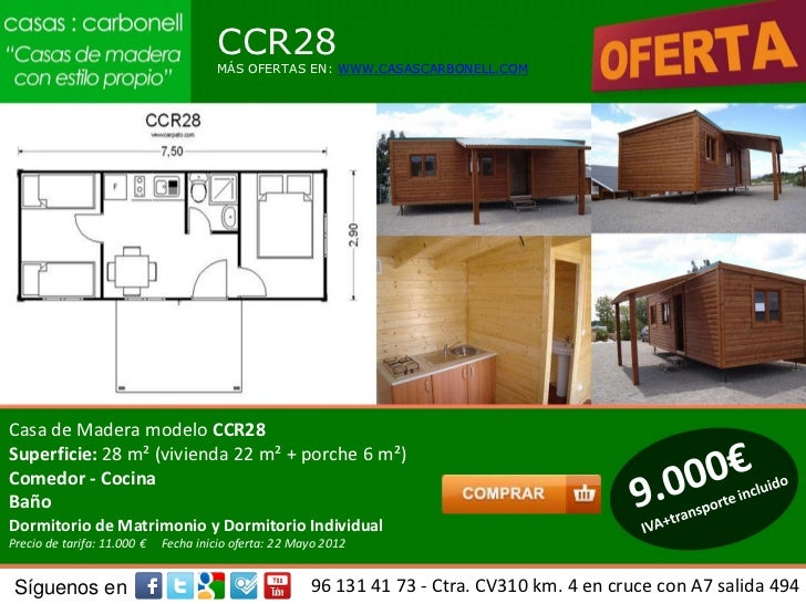 Casas de madera prefabricadas precios carbonell en for Casas prefabricadas de madera precios