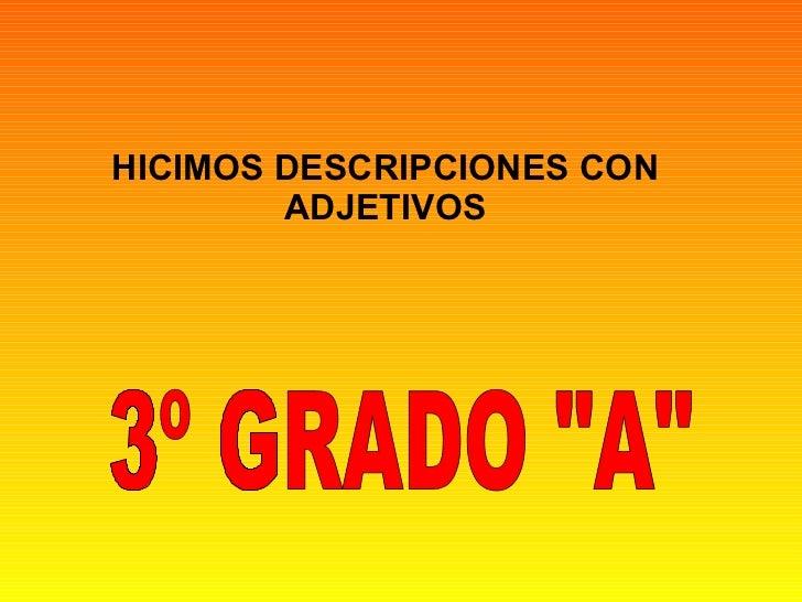 Presentación Adjetivos 3ºA