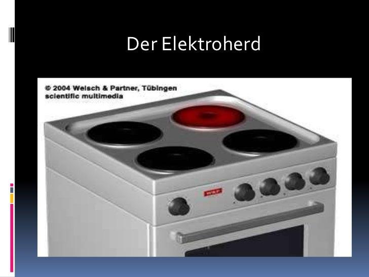 Der Elektroherd<br />