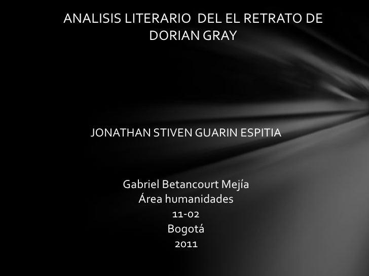 Presentación  español Retrato De Dorian Gray