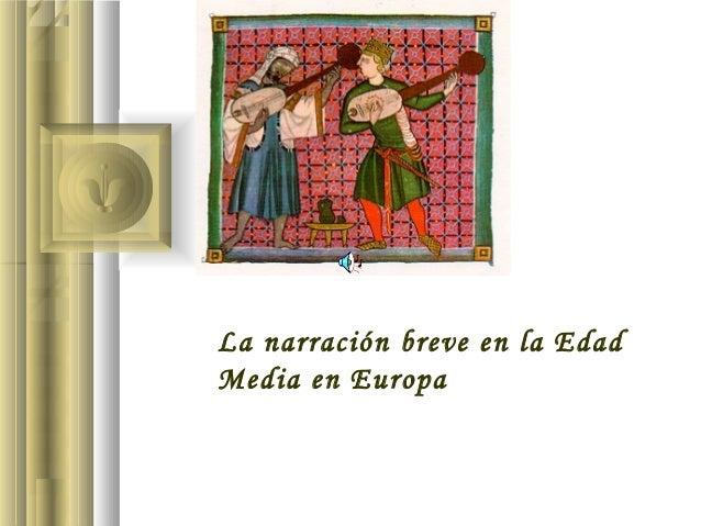 La narración breve en la Edad Media en Europa