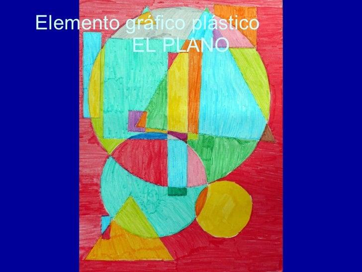 Elemento gráfico plástico  EL PLANO