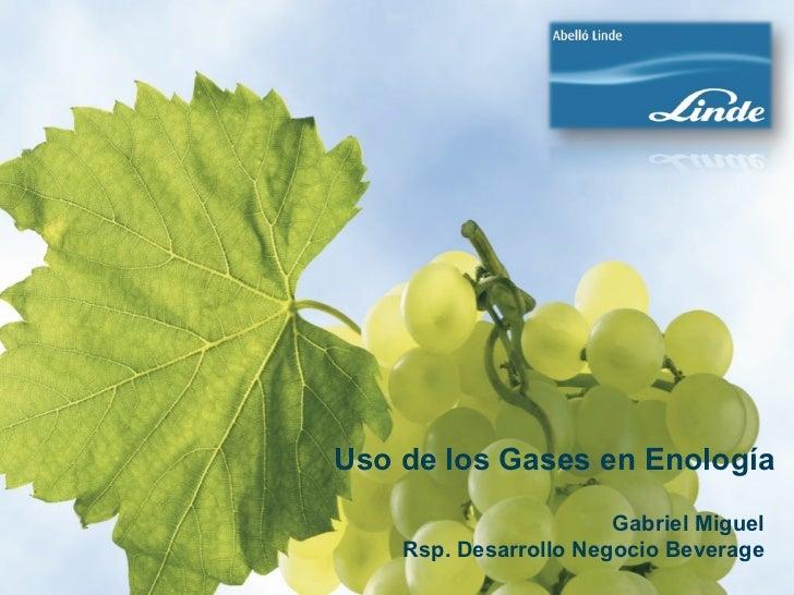 """""""Els gasos a l'enologia"""", per Gabriel Miquel, Abelló Linde"""