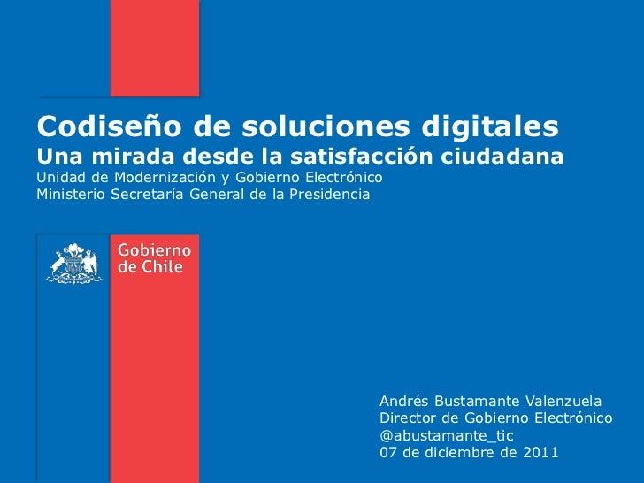 Codiseño de soluciones digitales: Una mirada desde la satisfacción ciudadana