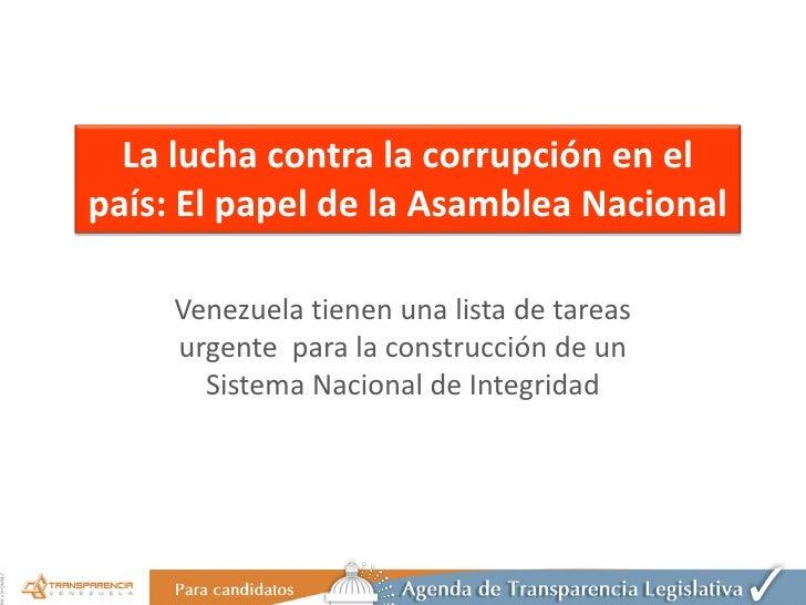 Presentación agenda transparencia legislativa 2010