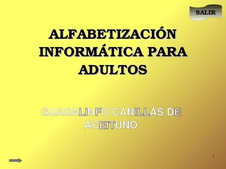 Alfabetización Informática Básica