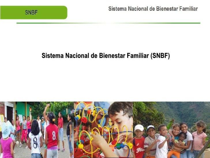 Sistema Nacional de Bienestar Familiar (SNBF)