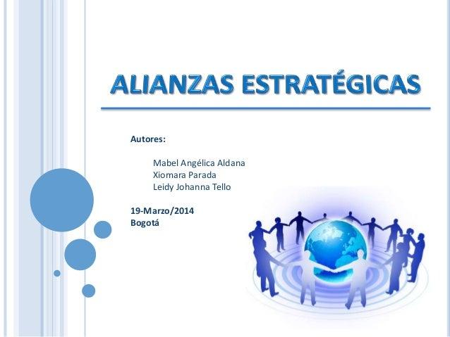 Presentación alianzas estrategicas