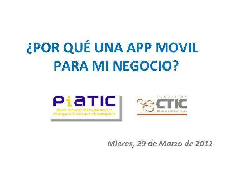 Presentación app Comercio Movil Asturias