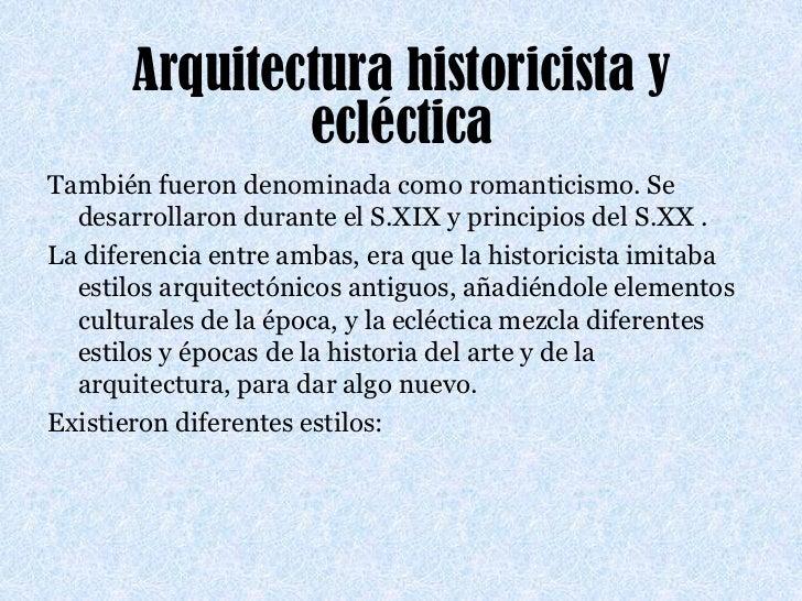 Presentaci n arquitectura for Arquitectura eclectica