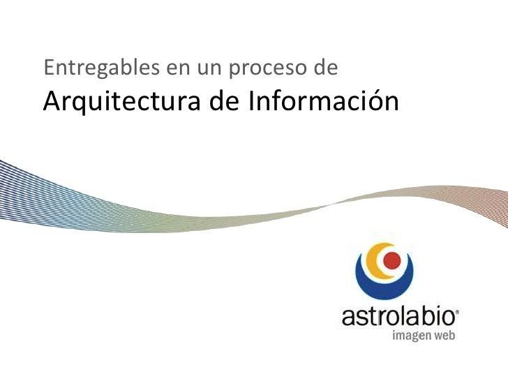 Arquitectura de Información (entregables)