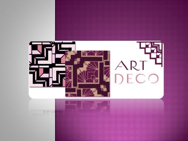 Presentaci n art dec - Art deco caracteristicas ...