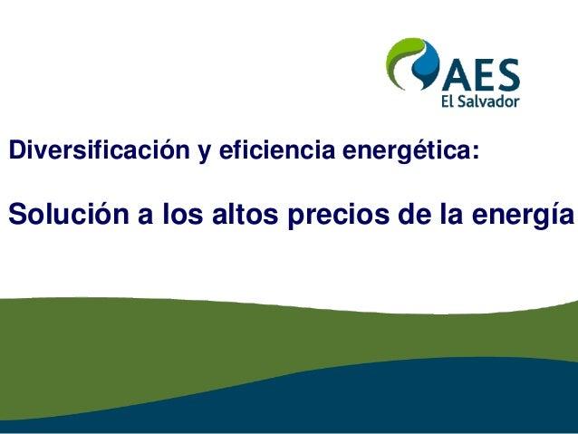 Diversificación y eficiencia energética: Solución a los altos precios de la energía