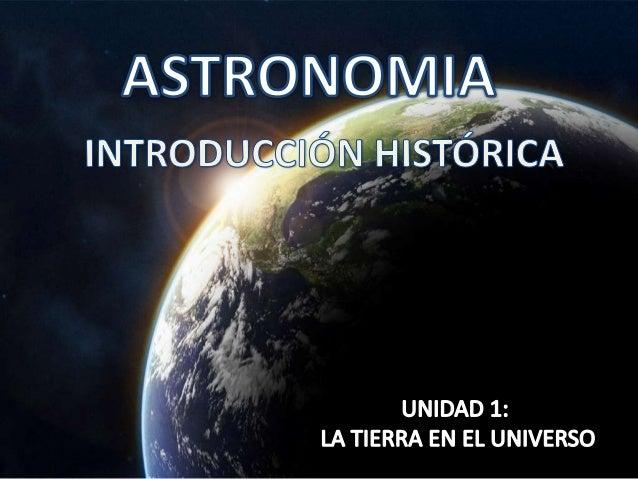 Historia astronomía