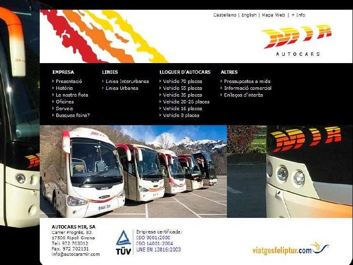 PresentacióN Autocares Mir Vdl Beulas