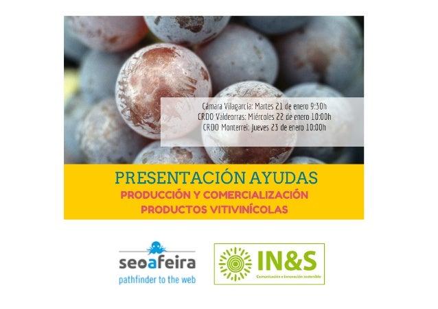 Presentación ayudas sector vitivinícola Galicia 2014