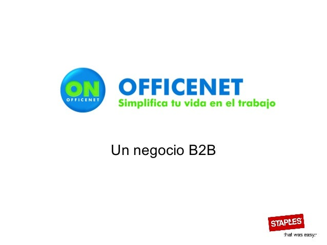 Un negocio B2B