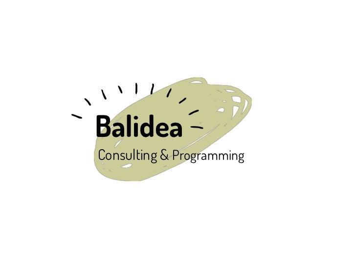 Presentación Corporativa BALIDEA (galego)