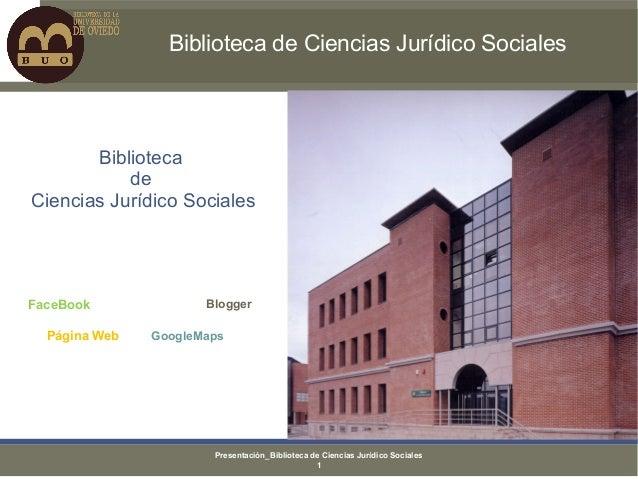 Biblioteca de Ciencias Jurídico Sociales       Biblioteca           deCiencias Jurídico SocialesFaceBook              Blog...