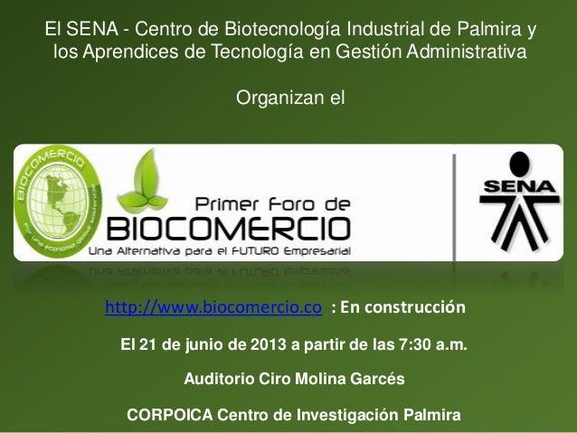 Presentación biocomercio