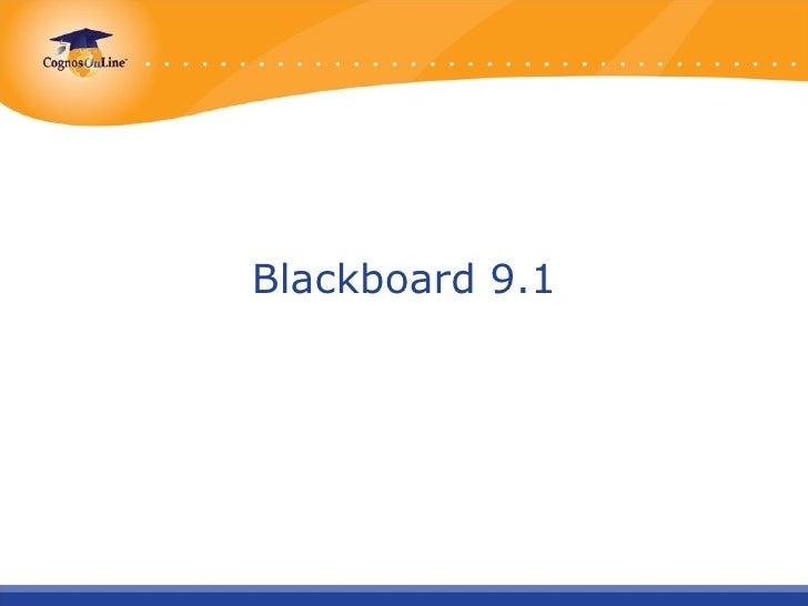 Presentación blackboard9.1
