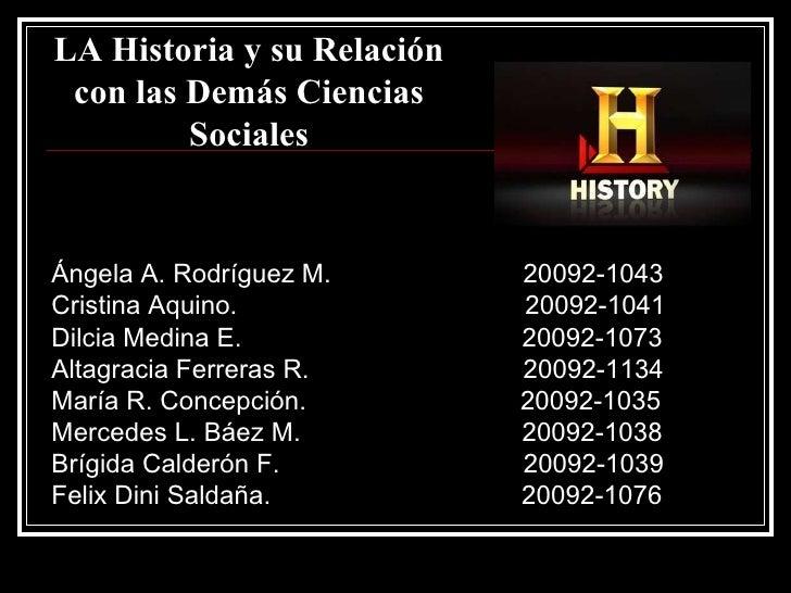 Ángela A. Rodríguez M.  20092-1043 Cristina Aquino.  20092-1041 Dilcia Medina E.  20092-1073 Altagracia Ferreras R.  20092...