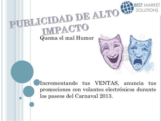 Presentación bluetooth (carnaval 2013)