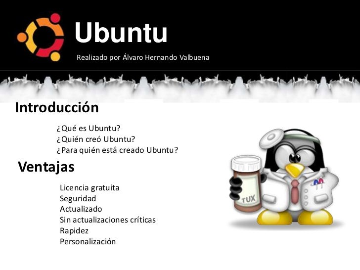 Presentación básica ubuntu