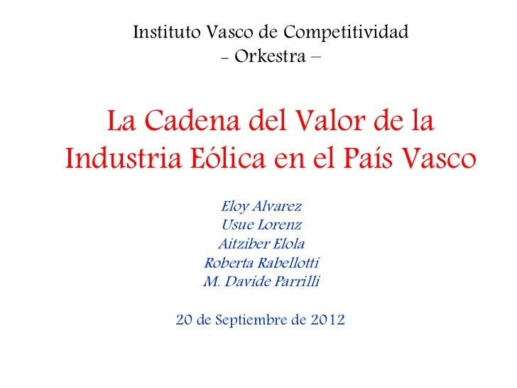 Presentación cadena de_valor_de_la_industria_eólica_del_país_vasco