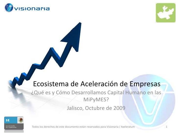 Ecosistema de Aceleración de Empresas<br />¿Qué es y Cómo Desarrollamos Capital Humano en las MiPyMES?<br />Jalisco, Octub...