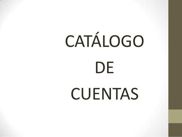 CATÁLOGODECUENTAS