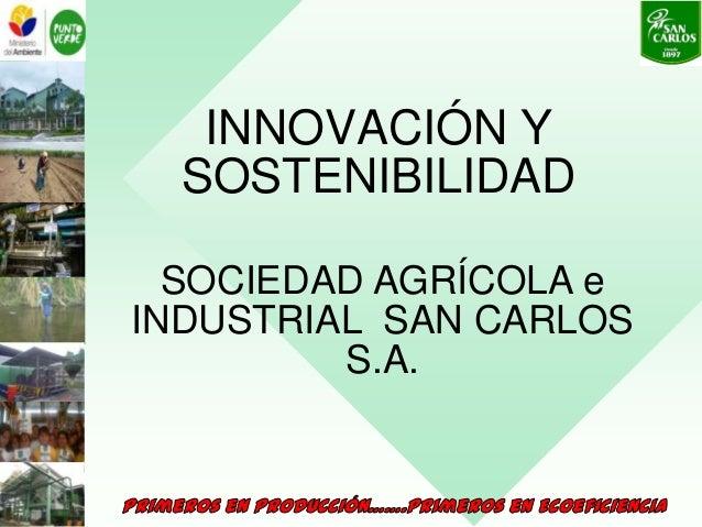 INNOVACIÓN Y SOSTENIBILIDAD SOCIEDAD AGRÍCOLA e INDUSTRIAL SAN CARLOS S.A.
