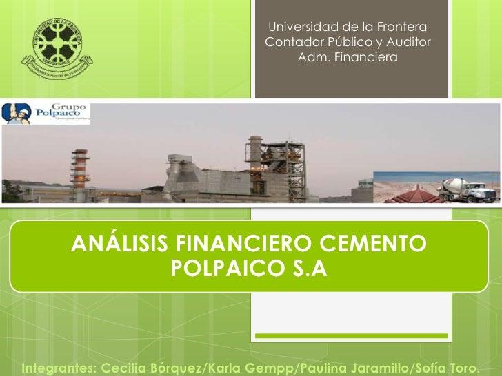 Universidad de la Frontera                                     Contador Público y Auditor                                 ...