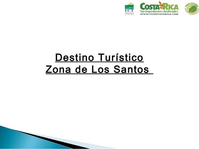 Destino Turístico Zona de Los Santos