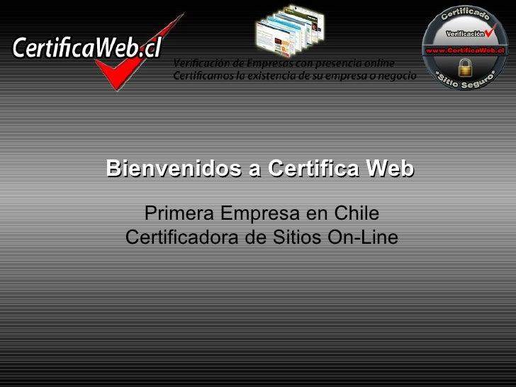 Presentación certificaweb