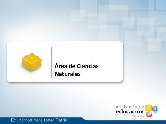 Área de CienciasNaturales