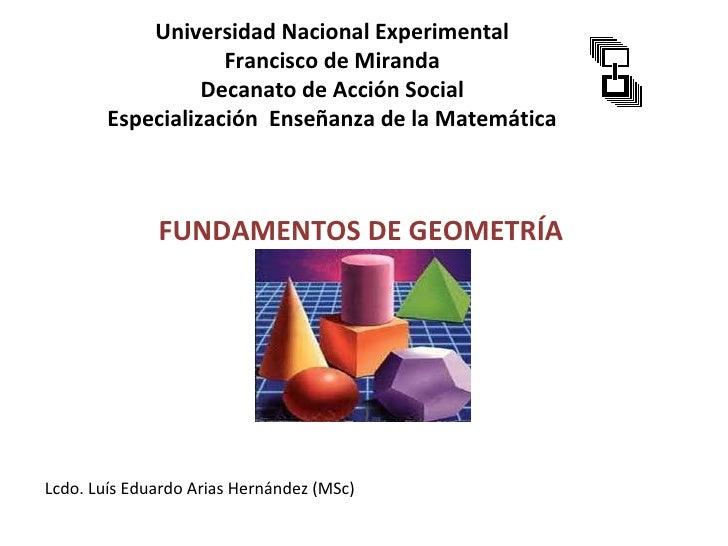 Universidad Nacional Experimental                    Francisco de Miranda                  Decanato de Acción Social      ...
